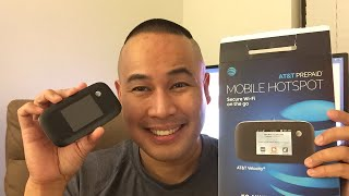 AT&T 4G LTE Prepaid Internet WIFI Mobile Hotspot Unboxing & Review