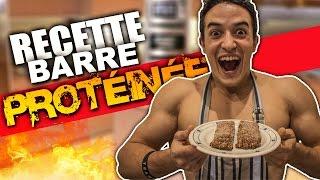 RECETTE BARRE PROTÉINÉE  !