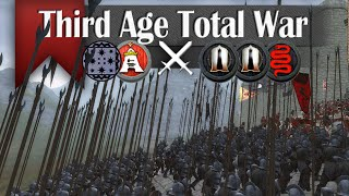 Uruk-Hai Grind  - Third Age Total War (2v3 Online Siege Battle #32)