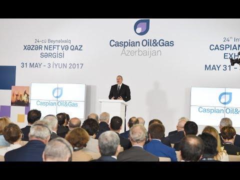 """İlham Əliyevin XXIV Beynəlxalq """"Xəzər Neft və Qaz-2017"""" sərgi və konfransının açılışında nitqi"""