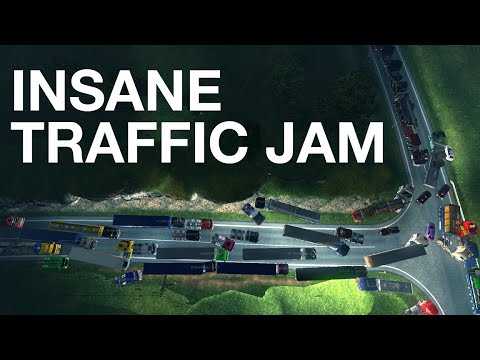 ETS2 Multiplayer - Longest Traffic Jam Ever!
