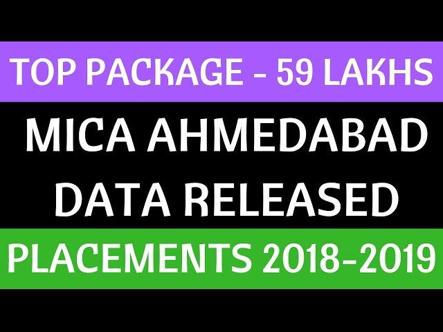 59 Lakhs - MICA Placement Report 2018-2019 Analysis. Mudra Institute of Communications Ahmedabad