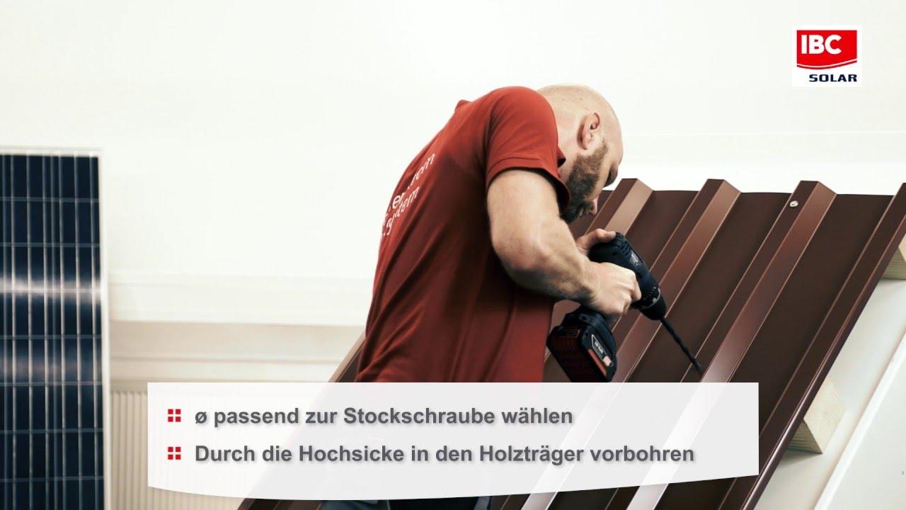 Montage Ibc Stockschraube Losung Fur Trapezblech Sandwich Und