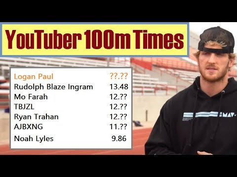 Faster Than Logan Paul? YouTubers With Actual 100m Sprint Race Times