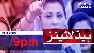 Samaa Headlines - 9PM - 21 September 2019