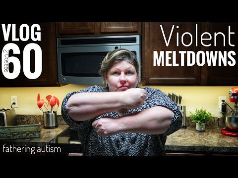 Self Injurious Autistic Meltdown | She Scratched Up Her Mom