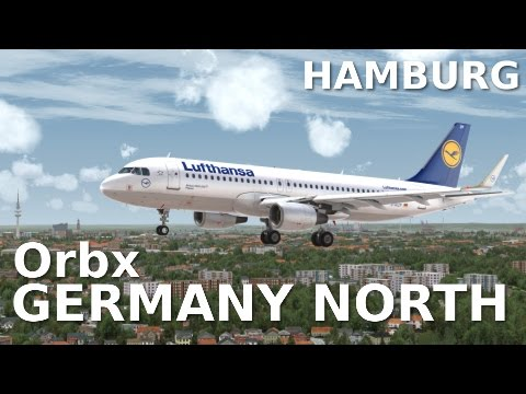 [FSX] Orbx FTX GERMANY NORTH (NEW SCENERY!!) - Landing at Hamburg Airport