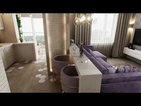 Дизайн интерьера квартиры в ЖК Мир митино