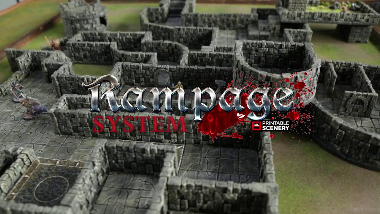 photo relating to 3d Printable Dungeon Tiles named Rampage Locking 3d Printable Dungeon Tile Course of action