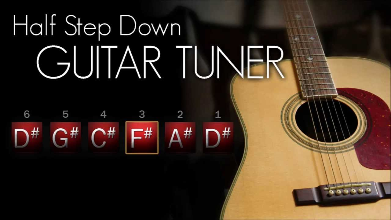 how to tune a guitar half step down