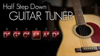 Half Step Down Guitar Tuner - Acoustic (Interactive!)