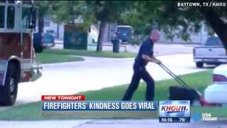 Firefighters' act of kindness goes viral