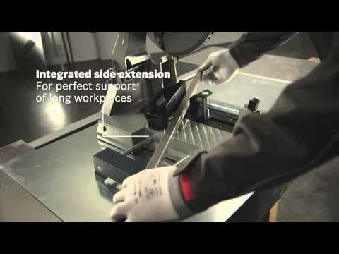 Видео обзор: Отрезная машина по металлу BOSCH GCD 12 JL по