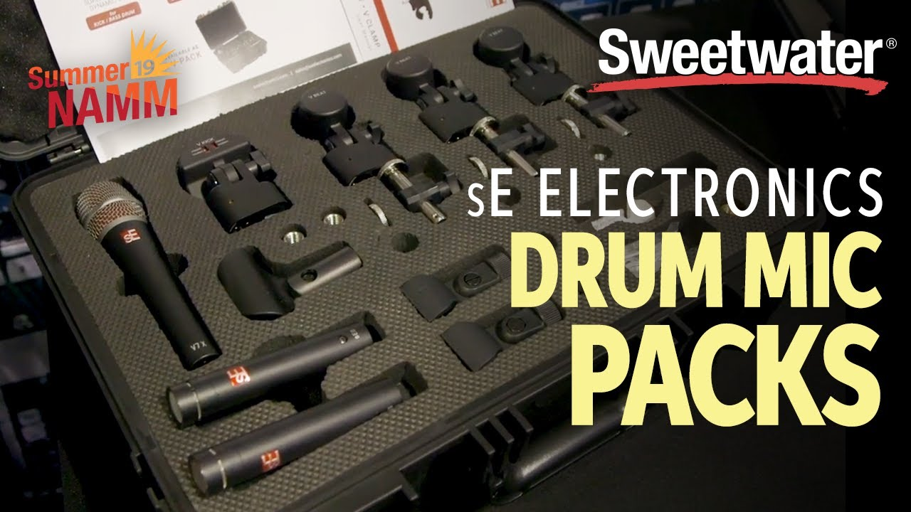 sE Electronics Drum Microphone Packs at Summer NAMM 2019
