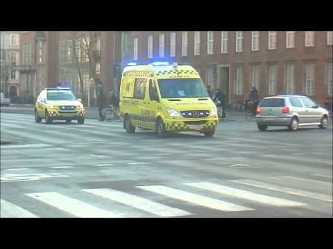 Mercedes Sprinter Ambulance - Falck + Mercedes ML320 Emergency Doctor Car - Copenhagen Fire Brigade