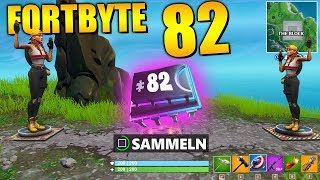 Fortnite Fortbyte 82 🔑 Druckplattenrätsel The Block | Alle Fortbyte Ort Deutsch