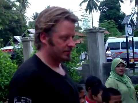 Guiding Charley Boorman in Central Sulawesi