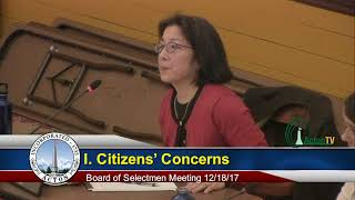Board of Selectmen 12/18/18