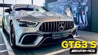 2019 MERCEDES AMG GT 4-Door 63 S FULL REVIEW Iridium Silver CARBON AERO Performance Seats