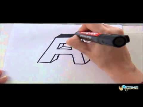 Come disegnare la lettera A in 3D