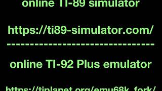 TI online calculators as emulators