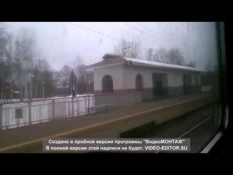 Пушкино - Красноармейск вид из окна ЭД4М 0302 23.02.15