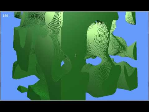 3D Simplex Noise displayed with Voxel