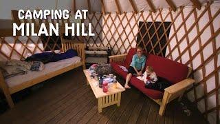 Camping at Milan Hill State Park