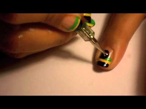 Brazil Soccer Nail Art Youtube