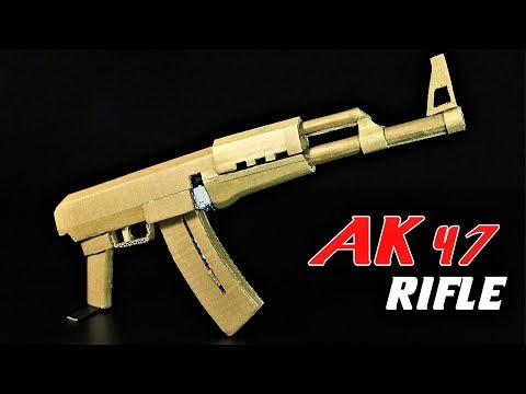 How To Make A Fully Automatic AK 47 from Cardboard That SH00TS