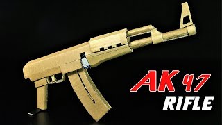How To Make A Fully Automatic Cardboard AK 47 That SH00TS