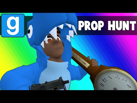 Gmod Prop Hunt Funny Moments - Blue Circles and Suggestive Clocks (Garry's Mod)
