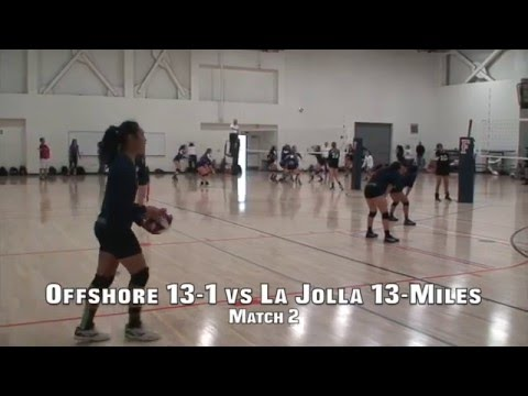Offshore Volleyball Club 13-1 Girls vs La Jolla Volleyball 13-Miles Match 2