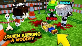 ¿QUIÉN ES EL ASESINO DE WOODY? - TOY STORY 4 EN MINECRAFT