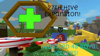 27ème Hive EXPANSION!! WASTED 48 gelées royales!!! - BSS ROBLOX