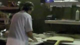Pizza Tossing At A Master Level - Visual Instructional Video - Flying Pizza Dough And Music