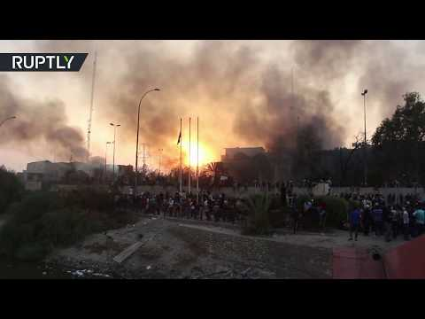 Demonstrators torched the Iranian consulate in Iraq's Basra