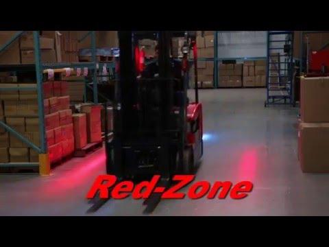 Red Zone Led Pedestrian Warning Light Youtube