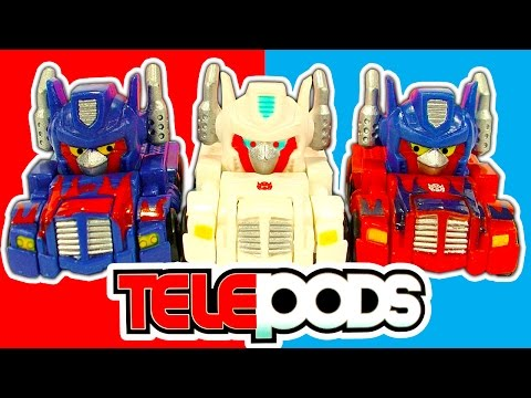 Angry Birds Transformers Vs Angry Birds Go Telepods Good Vs Bad Toys