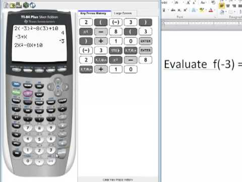 ti 84 tutorial how to evaluate functions sto button y
