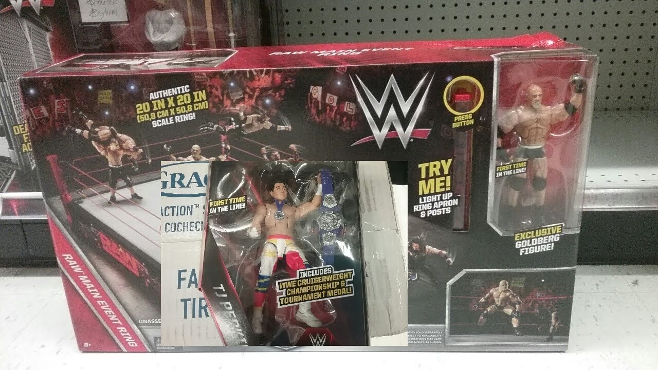 Toys R Us Wwe Rings : Wwe toy hunt in toys r us goldberg with raw main event