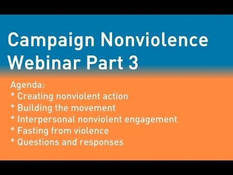 Campaign Nonviolence Webinar May 26, 2015 - Part 3