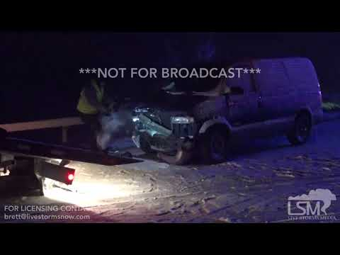 04-01-18 Pine Bluffs, WY - Multicar Pileup from Ice I-80 Closed