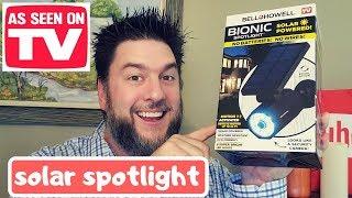 Bionic Spotlight review: as seen on TV solar powered spotlight