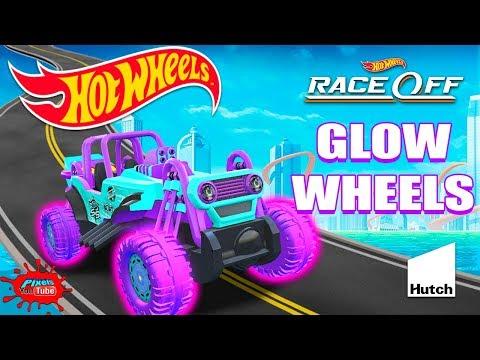 Hot Wheels Race Off Daily Challenge Mountain Mauler GLOW WHEELS