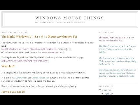 Mouse Fix Windows 7