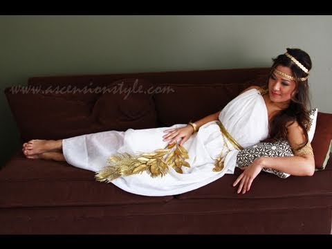 Diy greek goddess costume easy tutorial how to make youtube diy greek goddess costume easy tutorial how to make solutioingenieria Gallery