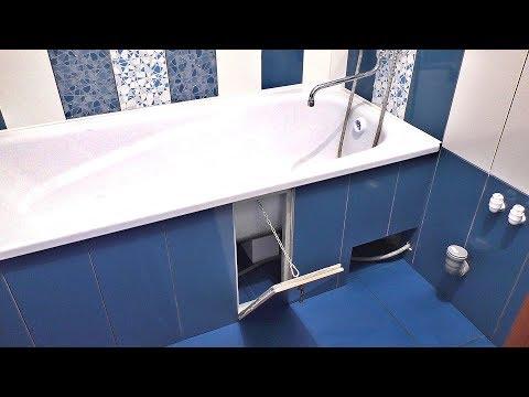 Как сделать скрытый люк под плитку на магнитах за 200 рублей при монтаже экрана под ванну