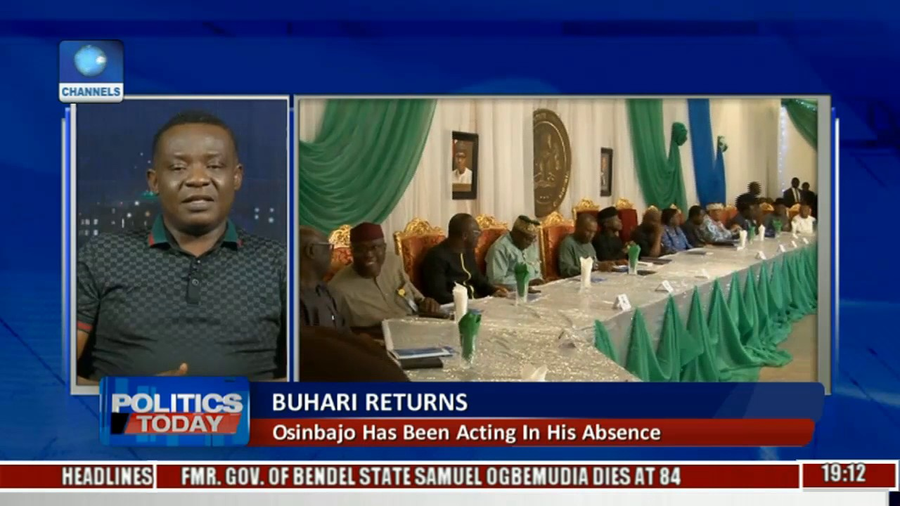 Politics Today: President Is Back In Nigeria After 49 Days Pt. 2