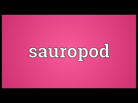 Sauropod Meaning